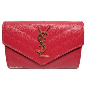 Saint Laurent Red Envelope Small Wallet